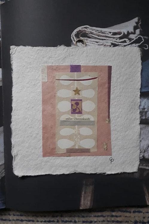 """Collage """"stiller Übereinkunft""""  - 20 x 20 cm"""