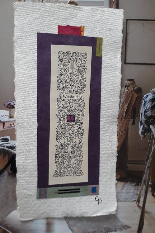 """Collage """"Weisheit"""" - 10 x 15 cm"""