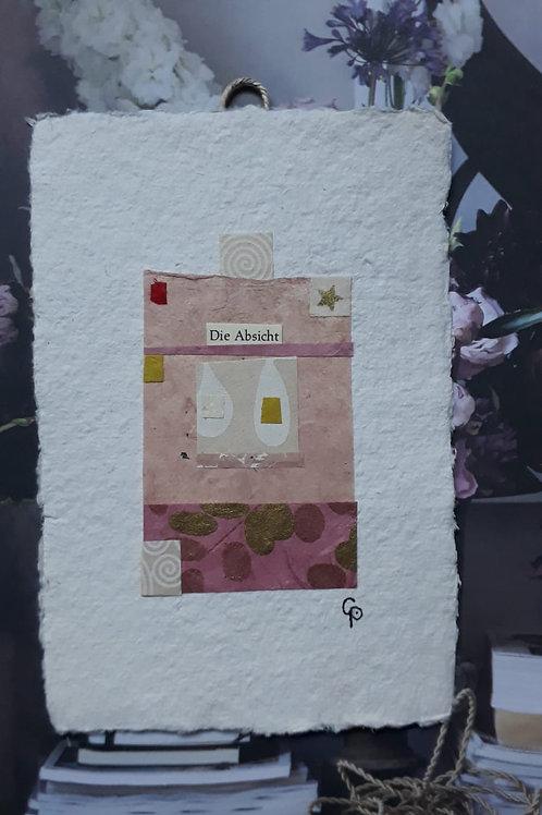 """Collage """"Die Absicht"""" - 10 x 15 cm"""