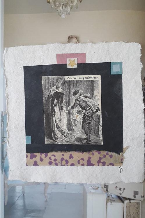 """Collage """"So soll es geschehen""""  - 20 x 20 cm"""