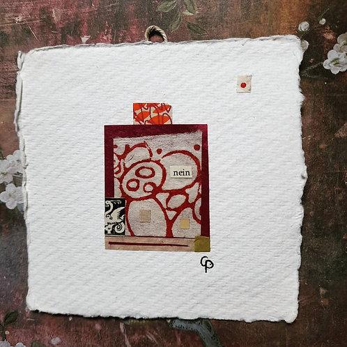 """Collage  """"nein"""" 10x10 cm"""