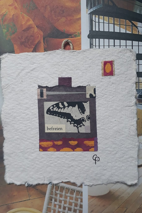 "Collage ""befreien""  - 10 x 10 cm"