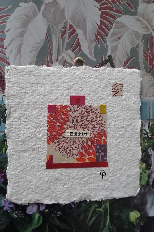 """Collage """"Höflichkeit""""  - 10 x 10 cm"""