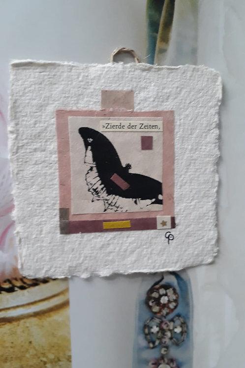 """Collage """"Zierde der Zeiten.""""  - 10 x 10 cm"""