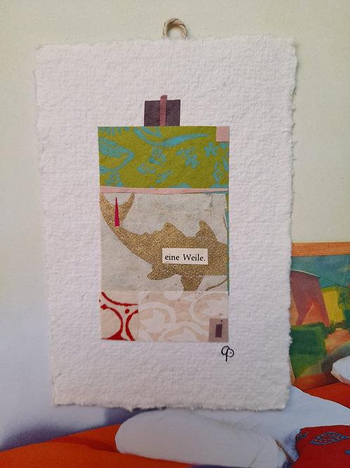 """Collage """"eine Weile"""" - 10 x 15 cm"""