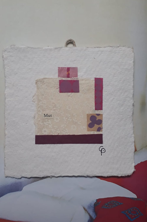 "Collage ""Mut""  - 10 x 10 cm"