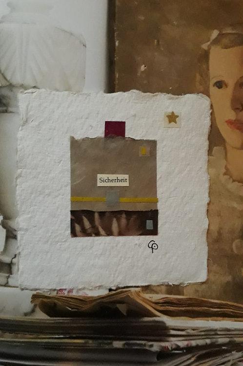 """Collage """"Sicherheit""""  - 10 x 10 cm"""
