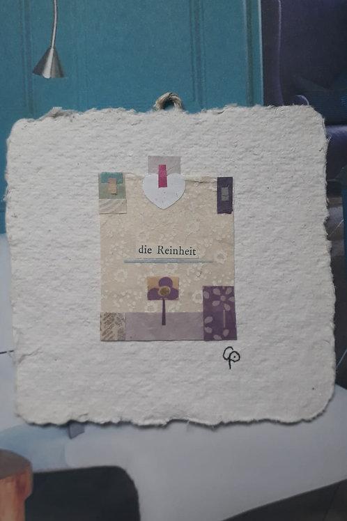 """Collage """"die Reinheit""""  - 10 x 10 cm"""