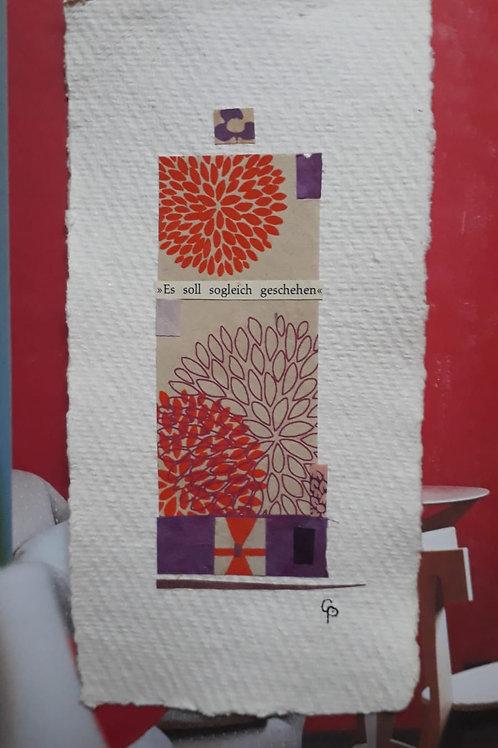 """Collage """"Es soll sogleich geschehen"""" - 10 x 15 cm"""