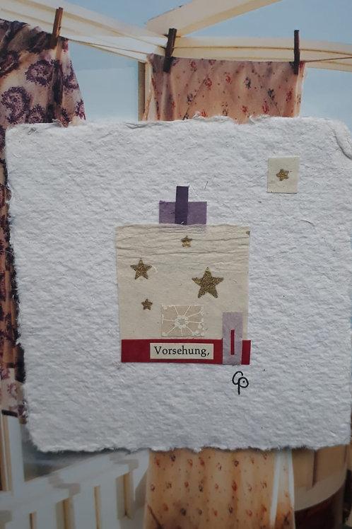 """Collage """"Vorsehung""""  - 10 x 10 cm"""