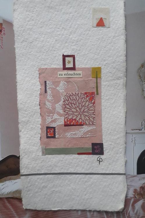 """Collage """"zu erleuchten"""" - 10 x 15 cm"""
