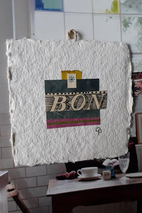 "Collage ""BON""  - 10 x 10 cm"