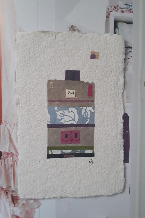 """Collage """"Ziel"""" - 10 x 15 cm"""
