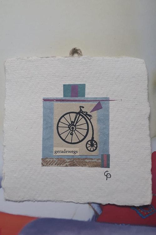 "Collage ""geradewegs""  - 10 x 10 cm"
