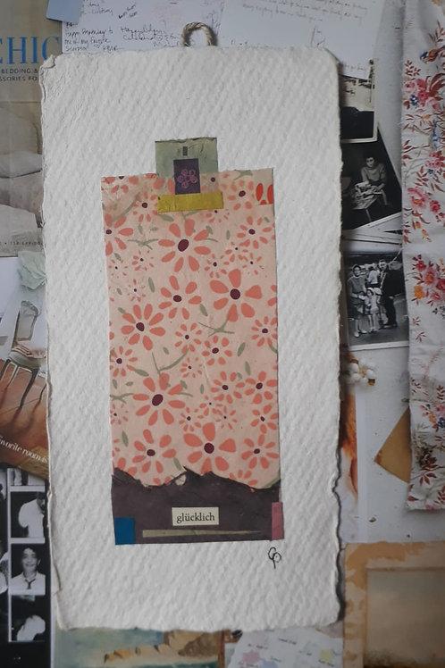 """Collage """"glücklich"""" - 10 x 15 cm"""