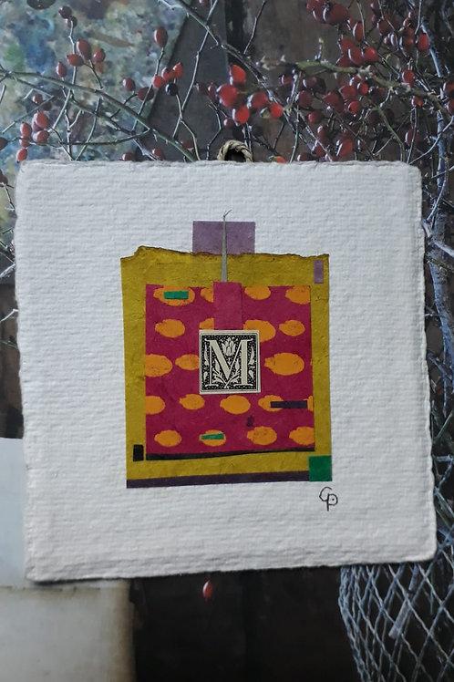 """Collage """"M""""  - 10 x 10 cm"""