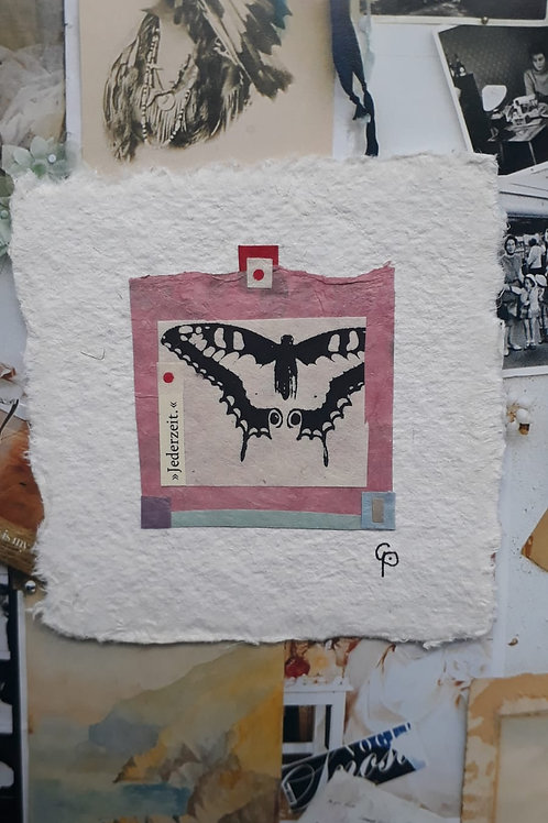 """Collage """"Jederzeit.""""  - 10 x 10 cm"""