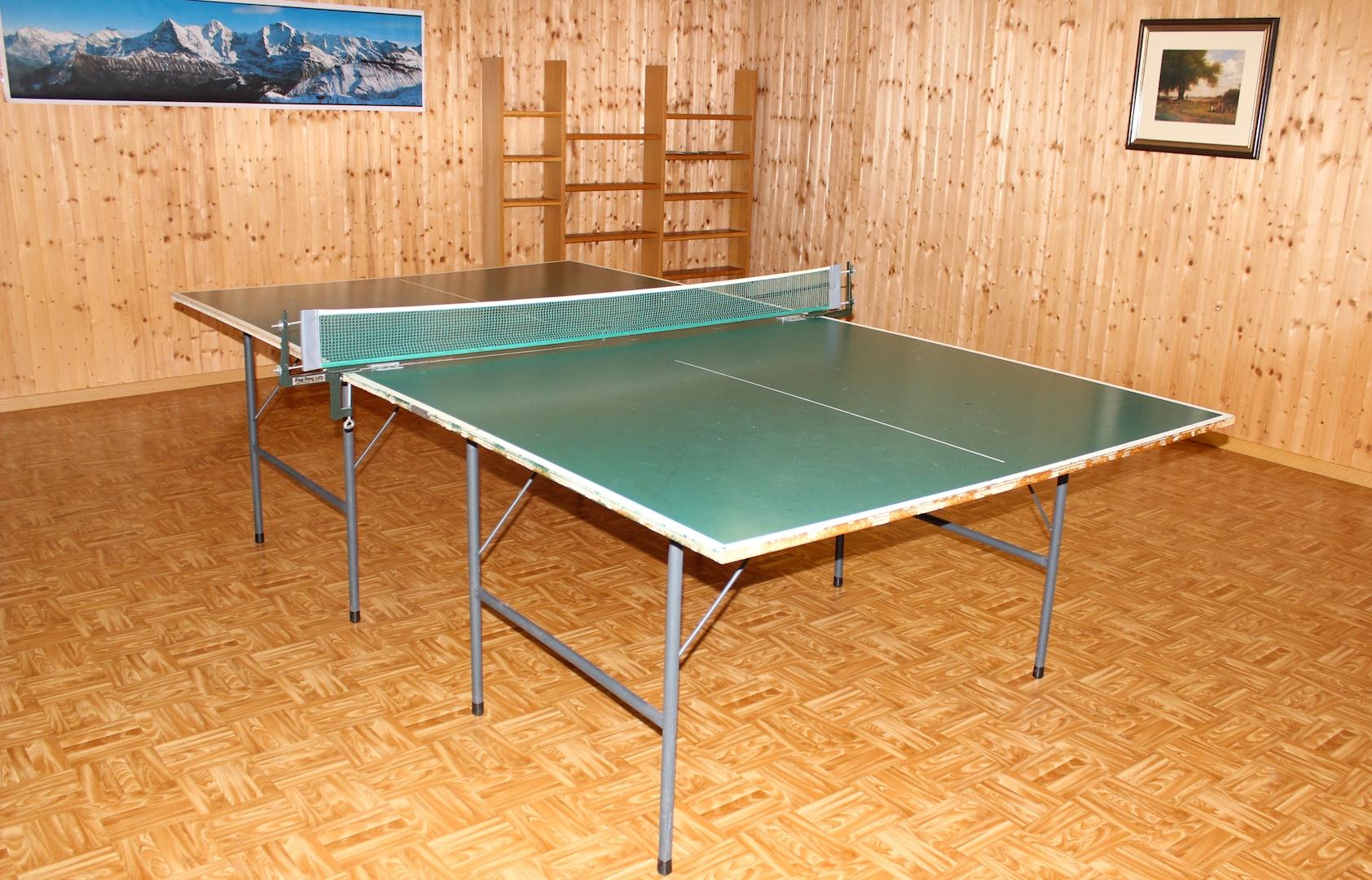 Ping Pong-Tisch im Hobbyraum