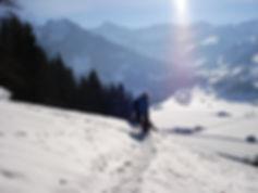 Wanderweg Skigebiet
