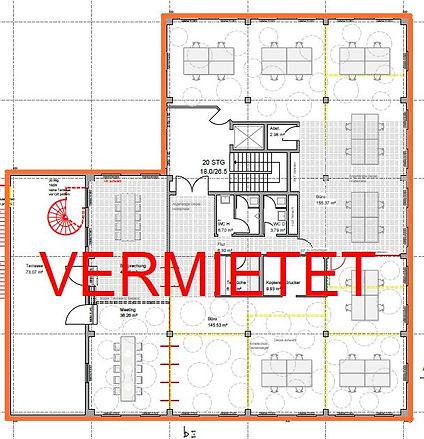Freie Mietflächen für Büro: 1. Obergeschoss