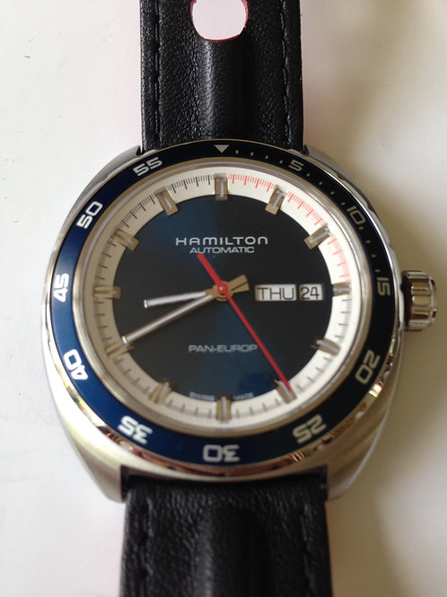 Hamilton Pan Europ Blue Dial New Condition