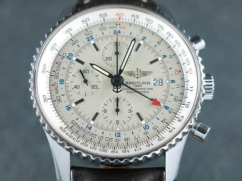 Breitling Navitimer World Chronograph GMT 46mm Serviced Complete Set SOLD