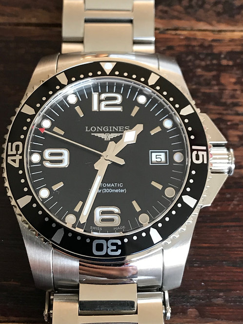 Longines HydroConquest Automatic 41mm Black LNIB SOLD