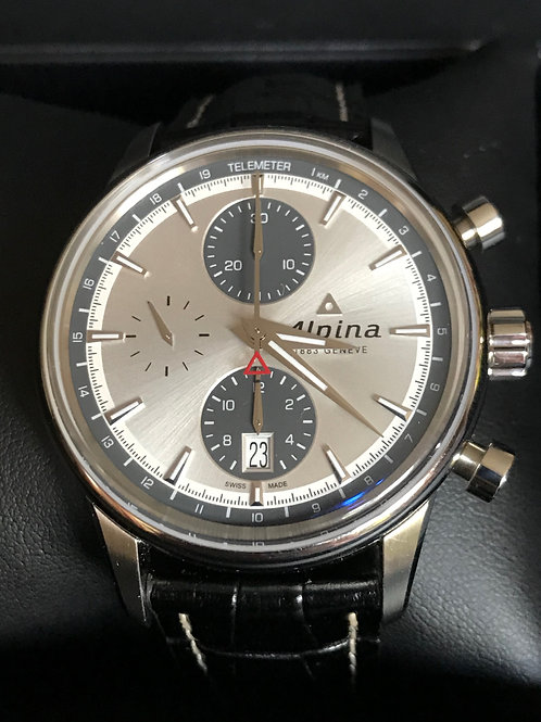 Alpina Alpiner Automatic Chronograph Valjoux 7750 Panda Dial SOLD