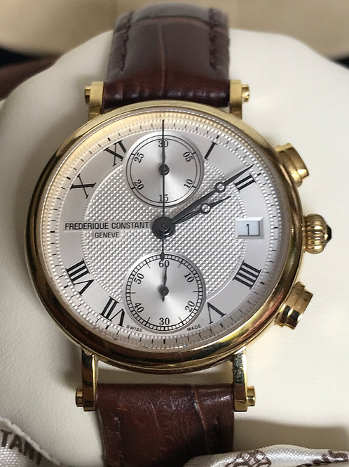 Frederique Constant Classics Ladies Chronograph Quartz 34mm Complete Set