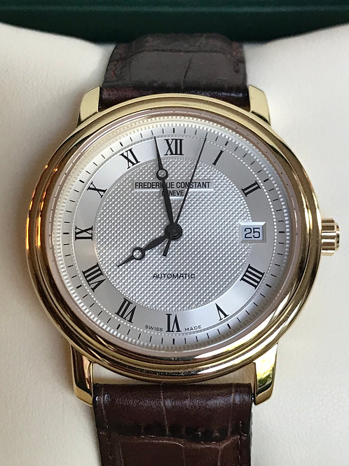 Frederique Constant Classics Automatic Yellow Gold Plated LNIB Complete Set SOLD