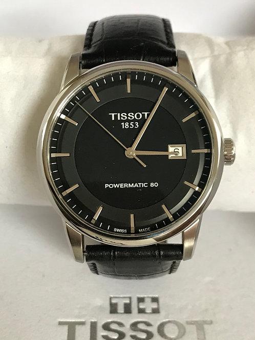 Tissot Luxury Automatic Powermatic 80 Steel 41mm Black Dial Polished + Box SOLD