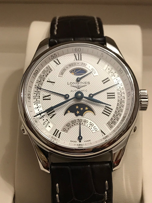 Longines Master Retrograde Moon Phase Day/Night Complete Set Serviced RESERVED
