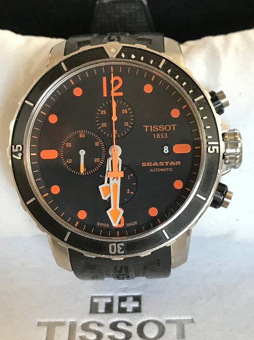 Tissot Seastar 1000 Chronograph Automatic Orange Complete Set SOLD