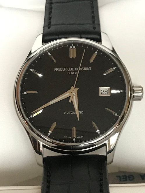 Frederique Constant Classics Index Automatic Black Dial Serviced & Polished SOLD