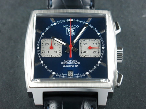 Tag Heuer Monaco Chronograph Caliber 12 Blue Dial BRAND NEW SOLD