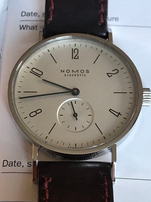 NOMOS Tangente 35mm Manual Silver dial Complete Set Polished MINT