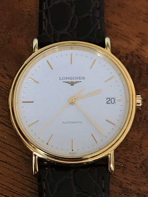 Longines Grande Classique Automatic Yellow Gold Plated + 2 New Straps SOLD