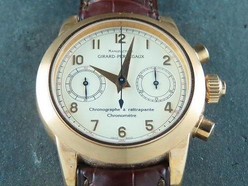 Girard Perregaux Chronograph Rattrapante Split Second 18K Rose Gold NOS SOLD
