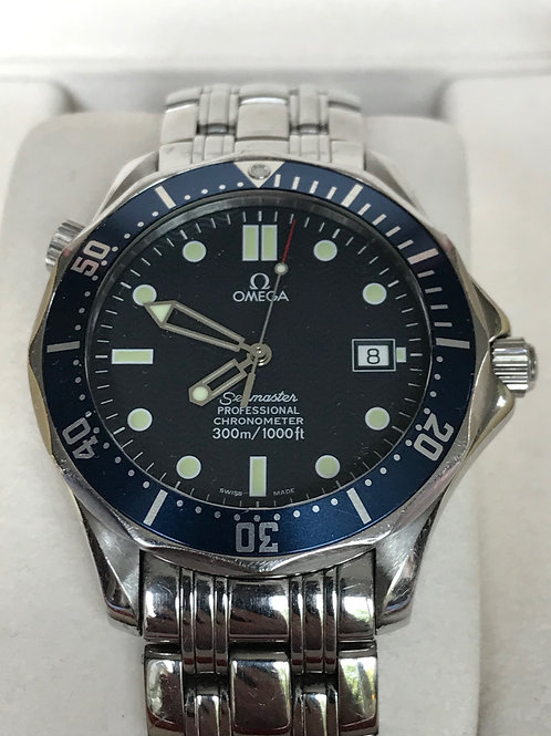 Omega Seamaster Diver 300 M Automatic Blue Overcomplete Set SOLD