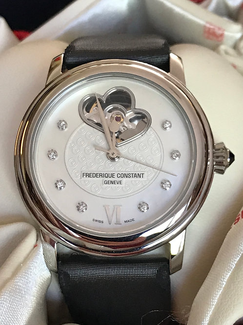 Frederique Constant Open Double Heart Automatic Ladies Serviced Complete Set