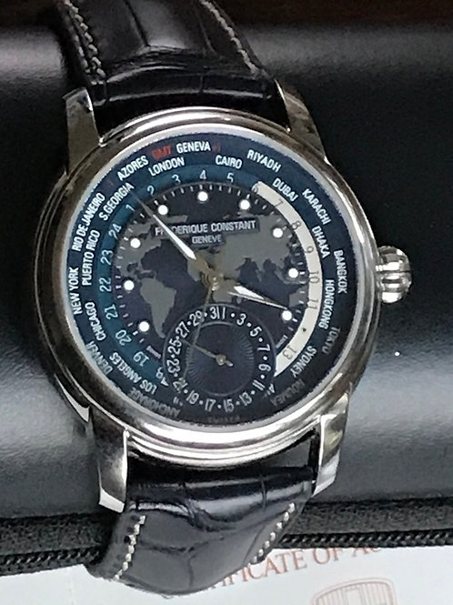 Frederique Constant Manufacture Worldtimer Automatic Blue Dial RARE SOLD