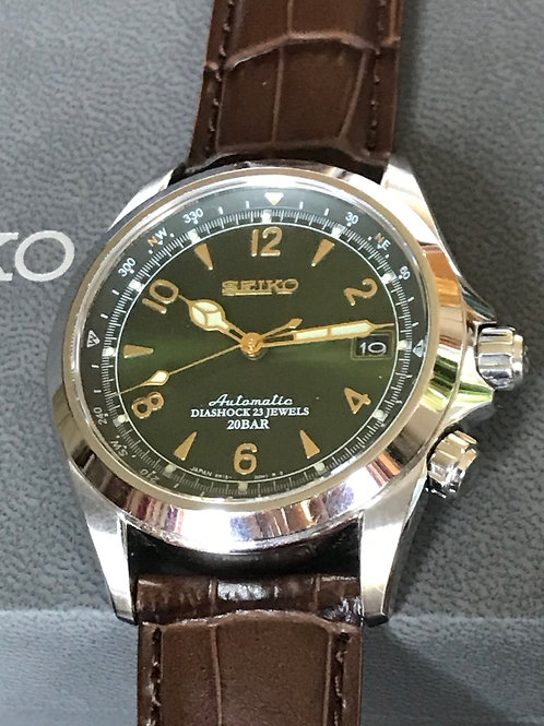 Seiko Spirit Alpinist Green Dial Compass Complete Set New Strap SOLD