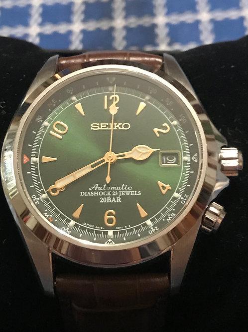 Seiko Spirit Alpinist Green Dial Compass Watch Complete Set Rare SOLD
