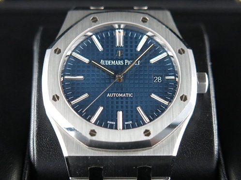 Audemars Piguet Royal Oak Jumbo Automatic 41mm Blue 15400 SOLD