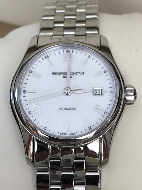 Frederique Constant Classics Index Automatic 27.5mm Ladies MOP Dial NIB SOLD