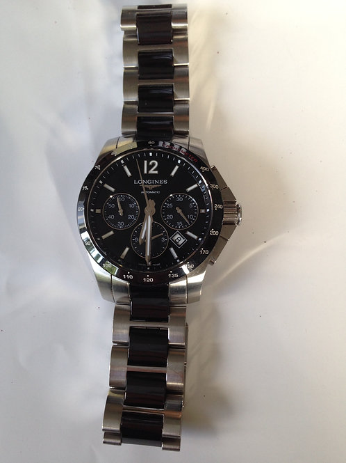 Longines Conquest Chronograph Steel/Ceramic Aut. RESERVED