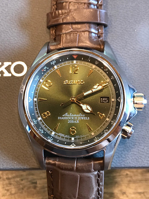Seiko Spirit Alpinist Green Dial Automatic 38mm Complete Set SOLD