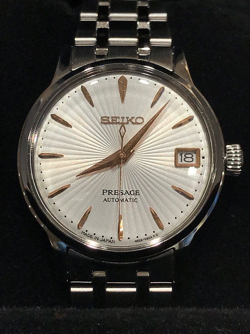 Seiko Presage White Sunburst Dial 33mm Automatic BRAND NEW
