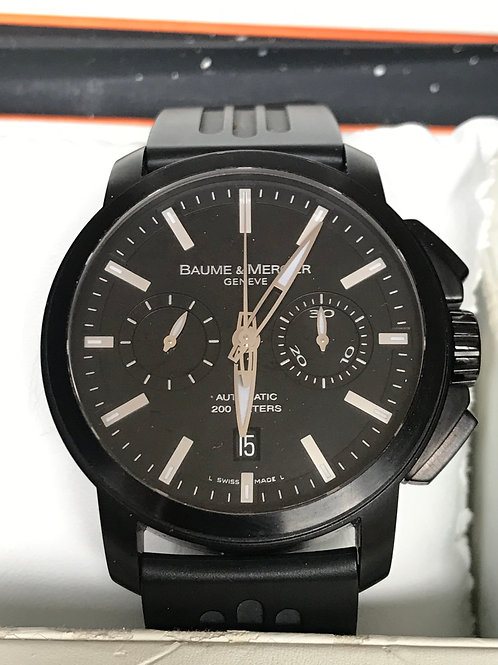 Baume & Mercier Classima Chronograph XXL Black PVD VERY RARE COMPLETE SET SOLD