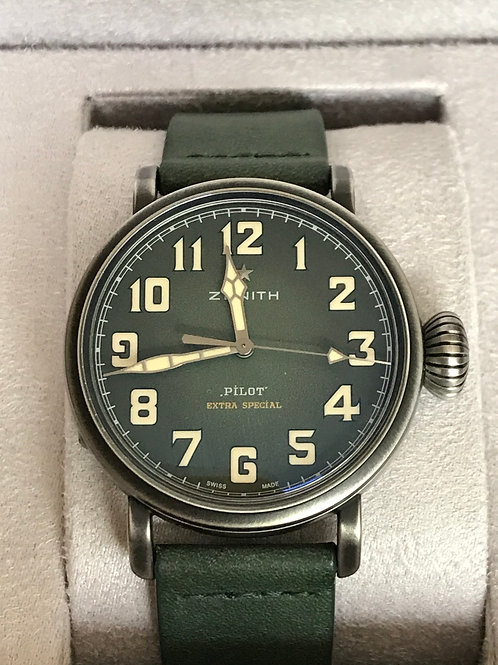 Zenith Pilot Type 20 Extra Special Green LTD ED 250 Pieces MINT SOLD